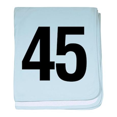 Number 45 Helvetica baby blanket