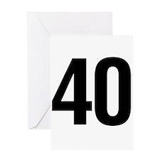 Number 40 Helvetica Greeting Card