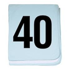 Number 40 Helvetica baby blanket