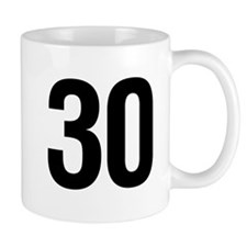 Number 30 Helvetica Mug