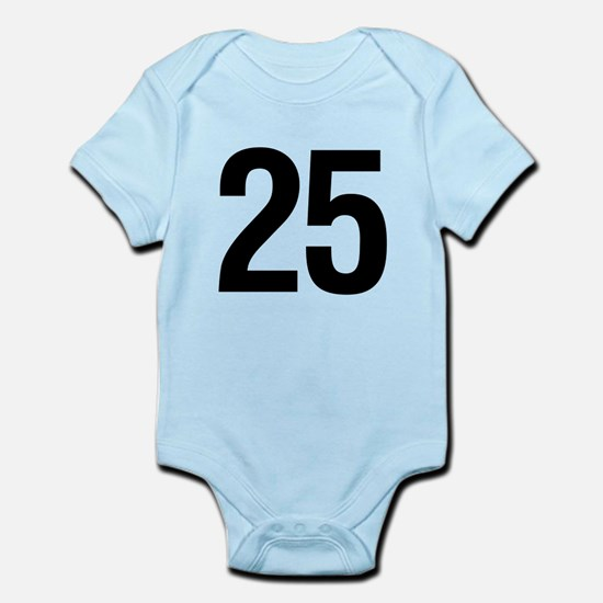 Number 25 Helvetica Infant Bodysuit