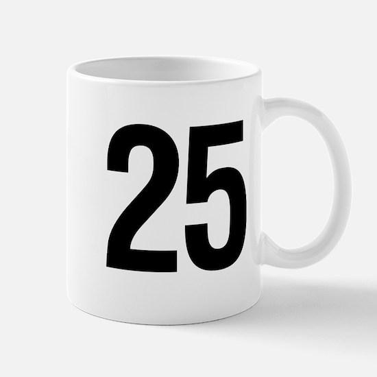 Number 25 Helvetica Mug
