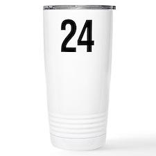 Number 24 Helvetica Travel Mug