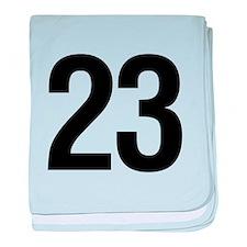 Number 23 Helvetica baby blanket