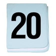 Number 20 Helvetica baby blanket