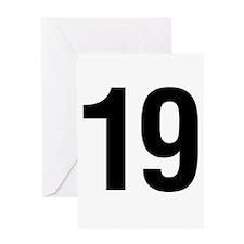 Number 19 Helvetica Greeting Card