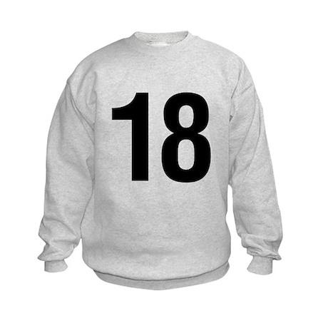 Number 18 Helvetica Kids Sweatshirt