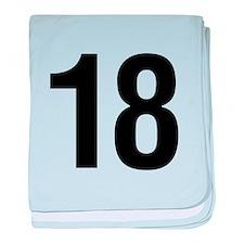 Number 18 Helvetica baby blanket