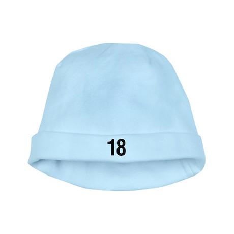 Number 18 Helvetica baby hat