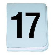 Number 17 Helvetica baby blanket