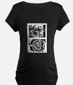 Wheels of Time Diptych T-Shirt