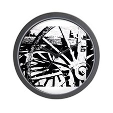 Wheels of Time Wagon Wall Clock