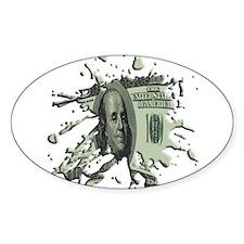 100 Dollar Blot Decal
