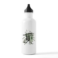 100 Dollar Blot Sports Water Bottle