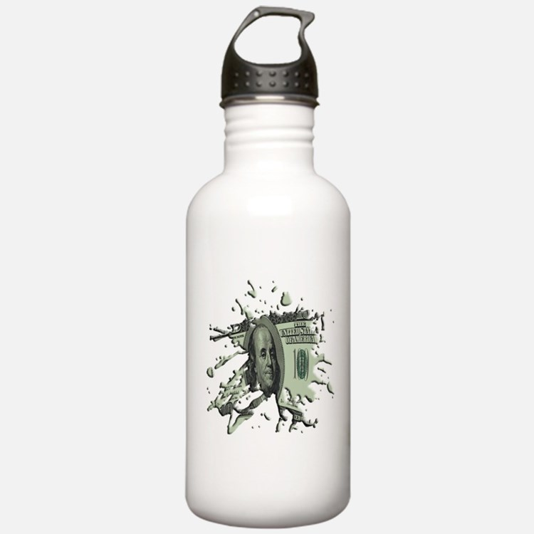 100 Dollar Blot Sports Water Bottle