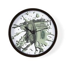 100 Dollar Blot Wall Clock