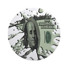 100 Dollar Blot Ornament (Round)
