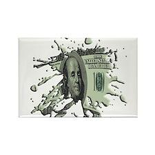 100 Dollar Blot Rectangle Magnet