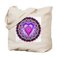 Hope Heart Mandala Tote Bag