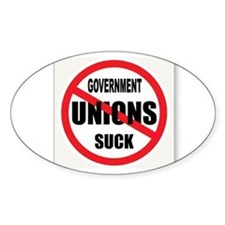 UNIONS MUST GO Decal