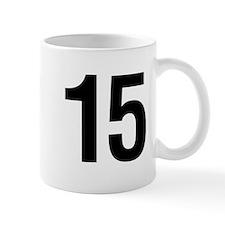 Number 15 Helvetica Mug