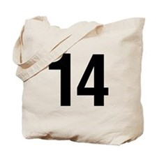 Number 14 Helvetica Tote Bag