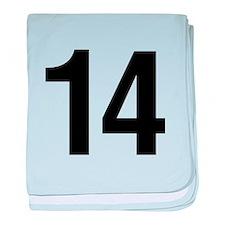 Number 14 Helvetica baby blanket