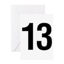 Number 13 Helvetica Greeting Card