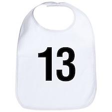 Number 13 Helvetica Bib