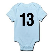Number 13 Helvetica Infant Bodysuit