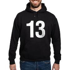 Number 13 Helvetica Hoodie