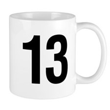 Number 13 Helvetica Mug