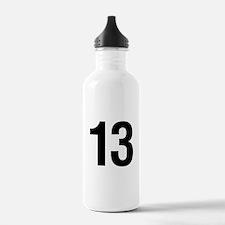 Number 13 Helvetica Water Bottle