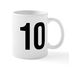 Number 10 Helvetica Mug