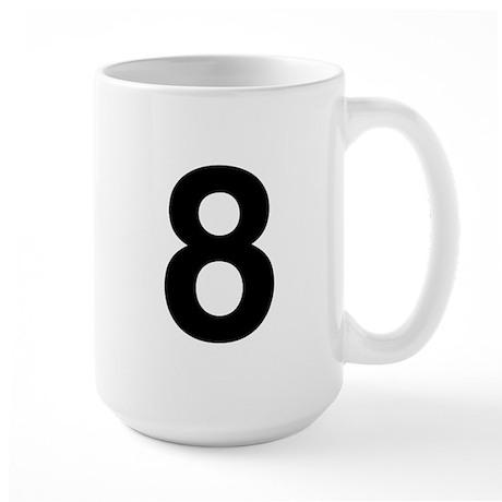 Number 8 Helvetica Large Mug