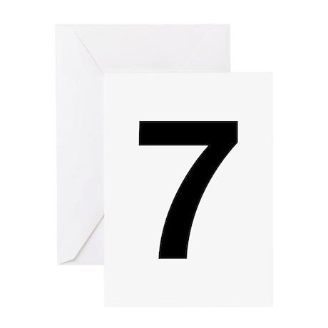 Number 7 Helvetica Greeting Card