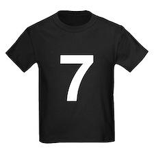 Number 7 Helvetica T