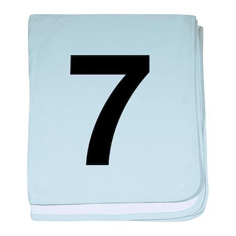 Number 7 Helvetica baby blanket