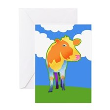 Cosmic Cow Greeting Card