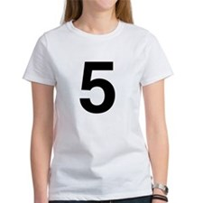 Number 5 Helvetica Tee