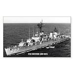 USS BENNER Sticker (Rectangle)