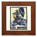 USS BENNER Framed Tile