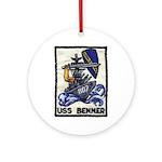 USS BENNER Ornament (Round)