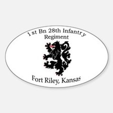 1st Bn 28th Infantry Sticker (Oval)