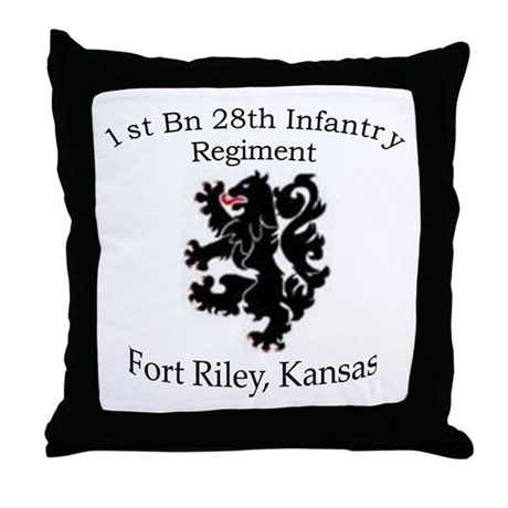 1st Bn 28th Infantry Throw Pillow