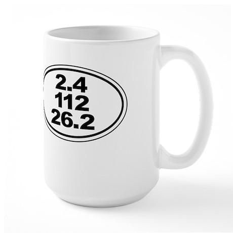 Ironman Triathlon Distances Large Mug