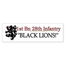 1st Bn 28th Infantry Bumper Sticker