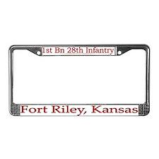 1st Bn 28th Infantry License Plate Frame