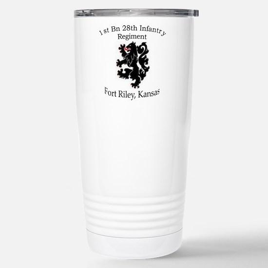 1st Bn 28th Infantry Stainless Steel Travel Mug