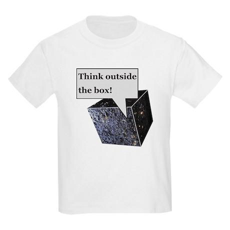 Think outside the box! Kids Light T-Shirt